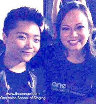 Tina Bangel backstage with Charice after her Sydney concert 2014