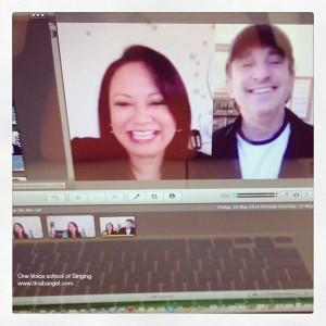 David Pomeranz and Tina Bangel. Editing the clip down to less than 15mins was so hard because David was so entertaining!